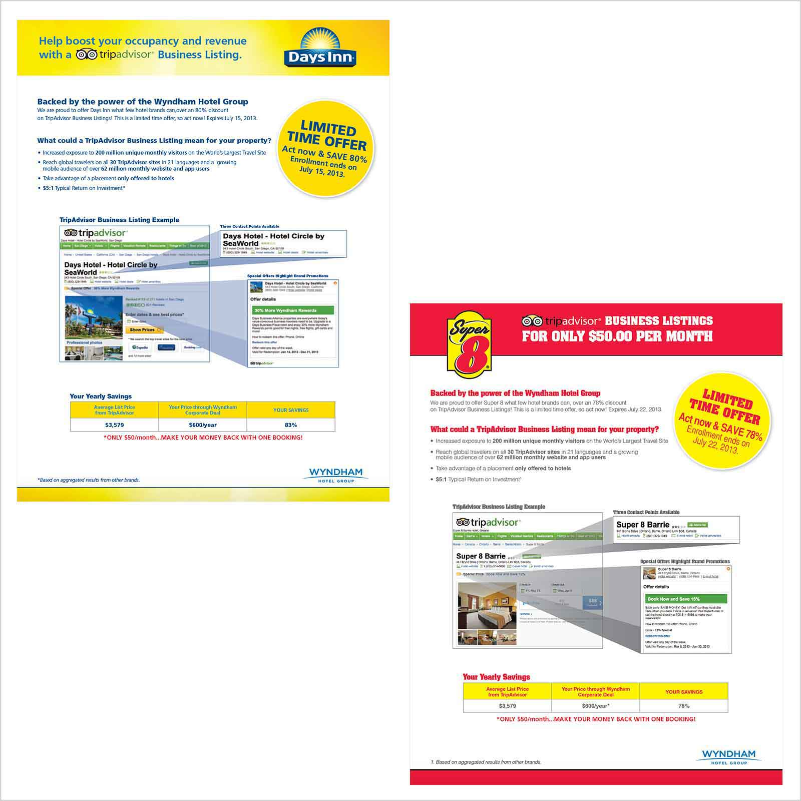 rowmack - Print Design - Hotel Sell Sheets